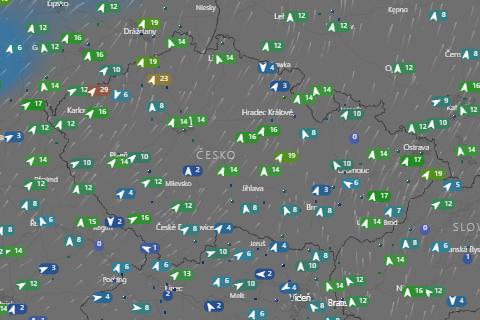 Detailní přehled počasí pro předletovou přípravu a létání v Česku - Počasí ČR